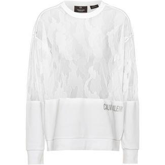 Calvin Klein Cooling X Lace Sweatshirt Damen bright white