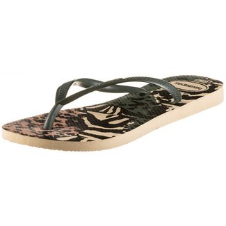 Havaianas Slim Animals Zehentrenner Damen grey;green olive
