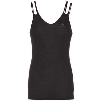 Odlo Merino Natural + Light SUW Top V-Neck Singlet Funktionstop Damen black