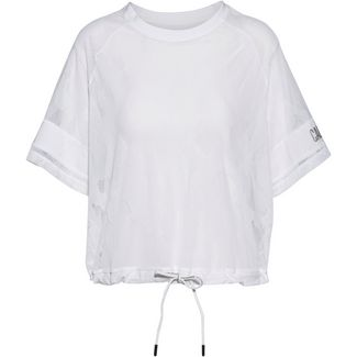 Calvin Klein Cooling X Lace Funktionsshirt Damen bright white