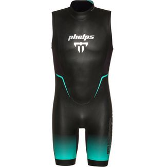 phelps AQUASKIN 2.0 SHORTY Neoprenshorty Herren black turquoise