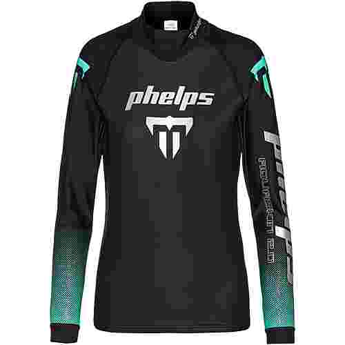 phelps AQUASKIN 2.0 TOP Neoprenshirt Damen black turquoise