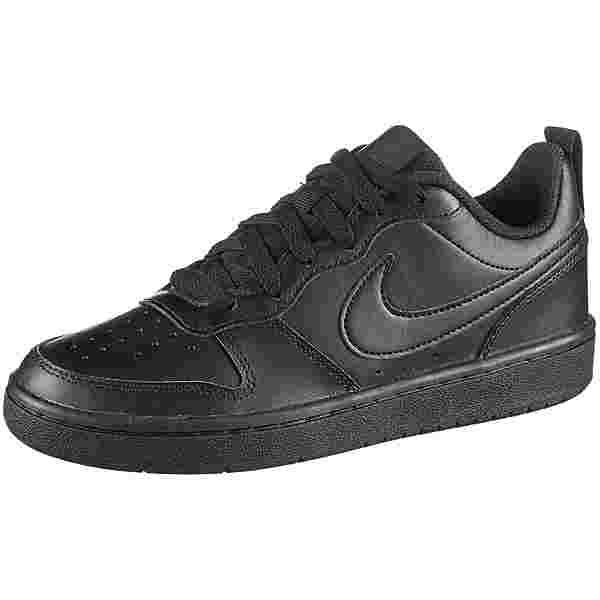 Nike Court Borough Low 2 Sneaker Kinder black-black-black