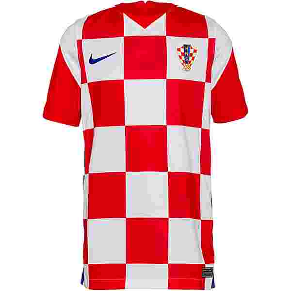 Nike Kroatien 2021 Heim Trikot Kinder white-university red-bright blue
