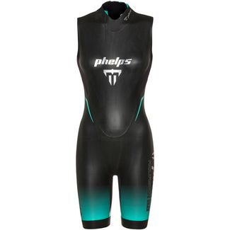 phelps AQUASKIN 2.0 SHORTY Neoprenshorty Damen black turquoise