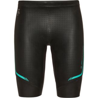 phelps AQUASKIN 2.0 SHORT Neoprenanzug black turquoise