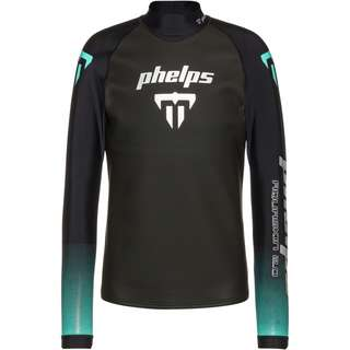 phelps AQUASKIN 2.0 TOP Neoprenshirt Herren black turquoise