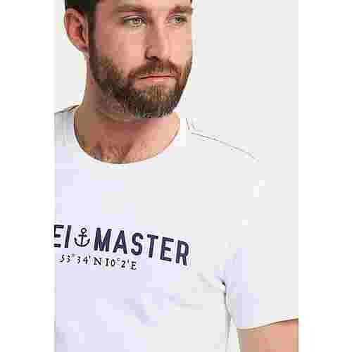 DreiMaster Printshirt Herren weiss