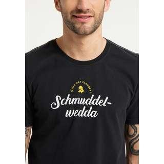 Schmuddelwedda Printshirt Herren Schwarz