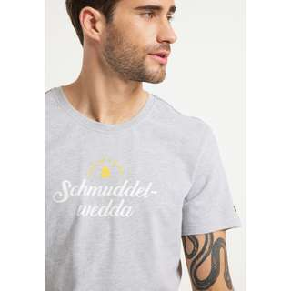 Schmuddelwedda Printshirt Herren Hellgrau Melange
