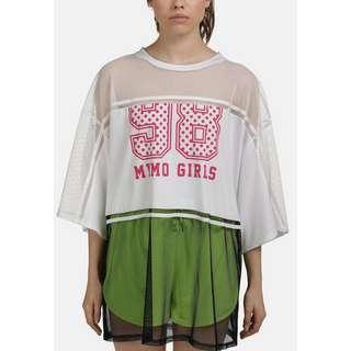 MYMO Langarmshirt Damen weiss schwarz
