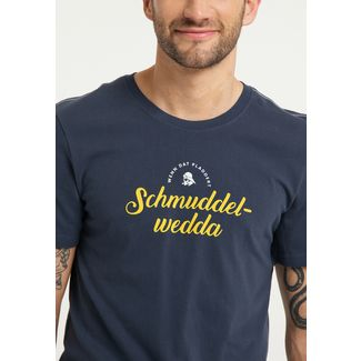 Schmuddelwedda Printshirt Herren marine