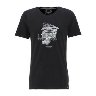 DreiMaster Printshirt Herren schwarz