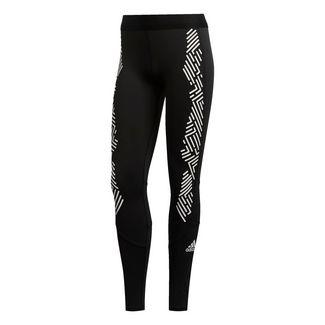 adidas Alphaskin lange Tight Tights Damen Black / White