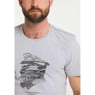 DreiMaster Printshirt Herren hellgrau melange