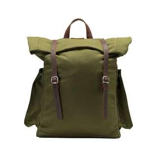 DreiMaster Rucksack Daypack Herren oliv braun