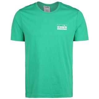 Diadora Light Your Fire T-Shirt Herren grün / weiß