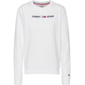 Tommy Hilfiger Essential Logo Sweatshirt Damen white