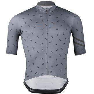 PERCY MASH Swarm Ride Fahrradtrikot Herren tarmac grey