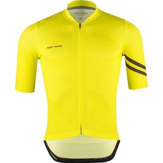 PERCY MASH Fast&Gentle Fahrradtrikot Herren lemon punch