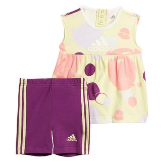 adidas Style Sommer-Set Trainingsanzug Kinder Yellow Tint / Glory Purple / Purple Tint / Glory Pink