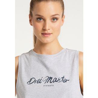 DreiMaster Tanktop Damen hellgrau melange