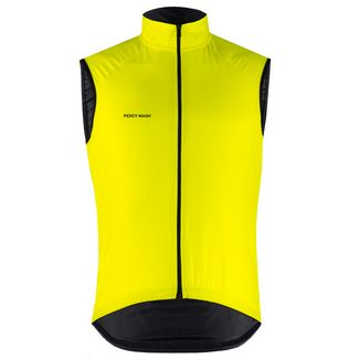 PERCY MASH Fast&Gentle Windbreak Fahrradweste Herren lemon punch