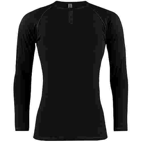 PERCY MASH Black Merino Winter Unterhemd Herren black