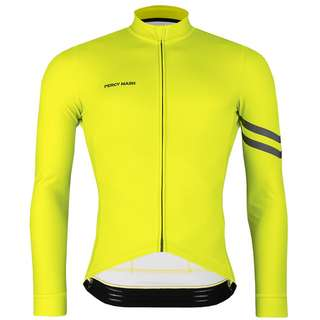 PERCY MASH Fast&Gentle Thermal Fahrradtrikot Herren lemon punch