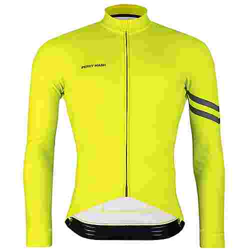 PERCY MASH Fast&Gentle Thermal Fahrradtrikot Herren lemon punch