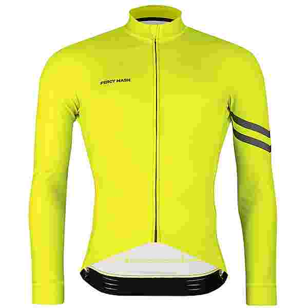 PERCY MASH Fast&Gentle line Thermal Long Sleeve Fahrradtrikot Herren lemon punch