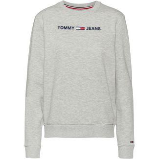 Tommy Hilfiger Essential Logo Sweatshirt Damen light grey heather