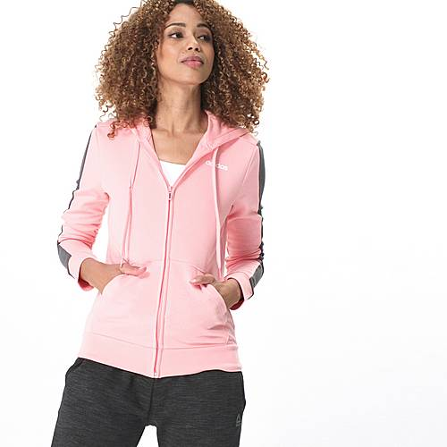 Adidas Sweatjacke Damen glory pink grey three im Online Shop