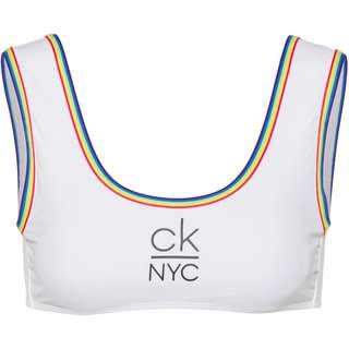 Calvin Klein Bikini Oberteil Damen pvh classic white