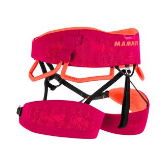 Mammut Comfort Knit Fast Adjust Harness Women Klettergurt Damen sundown-safety orange