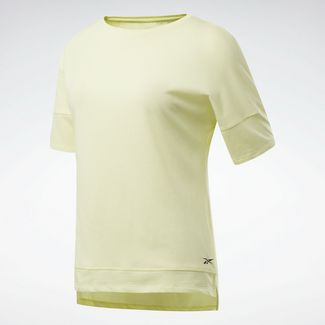 Reebok ACTIVCHILL+COTTON T-Shirt Funktionsshirt Damen Gelb