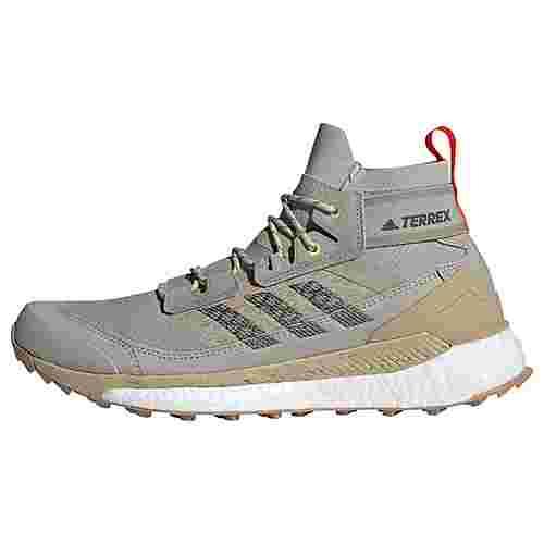 adidas TERREX Free Hiker Wanderschuh Wanderschuhe Herren Metal Grey / Dgh Solid Grey / Solar Red
