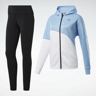 Reebok Trainingsanzug Damen Fluid Blue / White