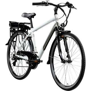 Zündapp Z802 Herren 700c E-Bike Trekking E-Bike weiß/grau