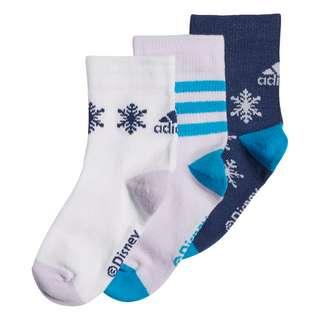 adidas Frozen Crew Socken, 3 Paar Sportsocken Kinder Tech Indigo / White / Purple Tint