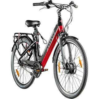 "Zündapp Z902 700c E Cityrad E-Bike 28"" E-Bike schwarz/rot"