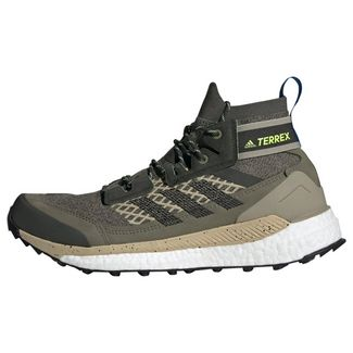 adidas TERREX Free Hiker Wanderschuh Wanderschuhe Herren Legacy Green / Core Black / Signal Green