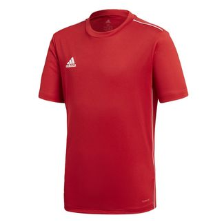 adidas Core 18 Trainingstrikot Fußballtrikot Kinder Power Red / White