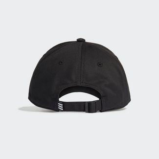 adidas Baseball 3-Streifen Twill Kappe Cap Herren Black / White / White