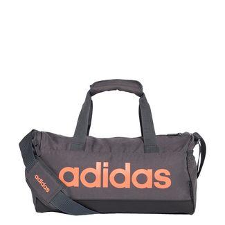 adidas Linear Duffelbag Sporttasche Herren Grey Six / Black / Signal Coral