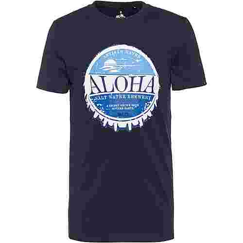 WLD ALOHA BREWERY Printshirt Herren navy
