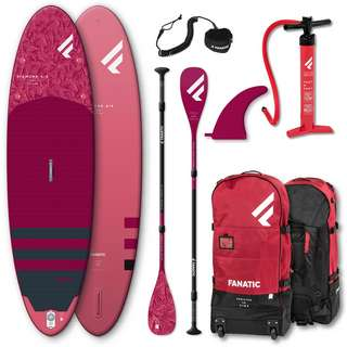 """FANATIC Package Diamond Air 9'8"""" SET SUP Sets rot"""