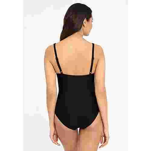 Lascana Badeanzug Damen schwarz-bedruckt