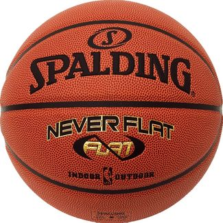 Spalding NBA Neverflat Basketball Herren orange / schwarz