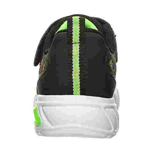 Skechers Flex-Glow Rondler Sneaker Kinder schwarz / grün